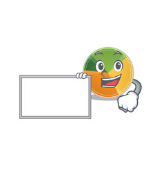 Funny pie chart cartoon character design style vector