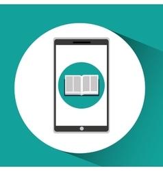 Girl app education online e-learning vector