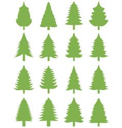 green christmas trees o vector image