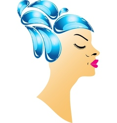 Hairstyle with droplets vector