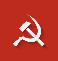 Hammer and sickle symbol vector