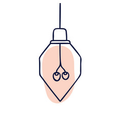 hand drawn geometric loft lamps edison lamps and vector image
