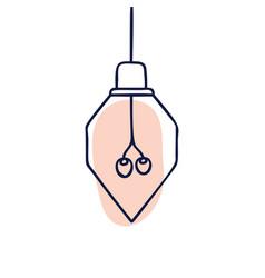hand drawn geometric loft lamps edison lamps vector image