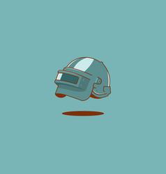 hazmat full face helmet in simple flat syle vector image