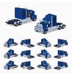 Heavy american truck vector