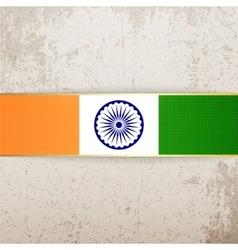 India patriotic Tag and Ribbon vector