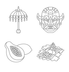 Isolated object balinese and caribbean sign vector