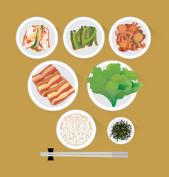 korea food vector image