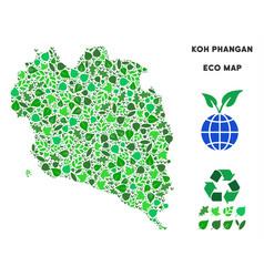 Leaf green composition koh phangan thai vector