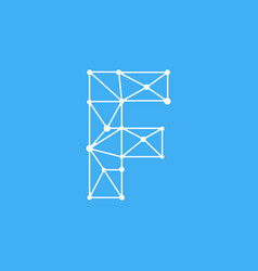 logo letter f dots lines vector image