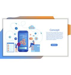 mobile app business calendar software design vector image