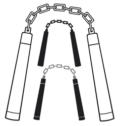 nunchaku weapon vector image
