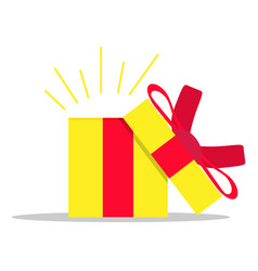 open gift box present surprise christmas with vector image