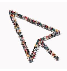 people shape sign cursor vector image