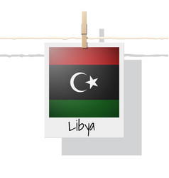 photo of libya flag vector image