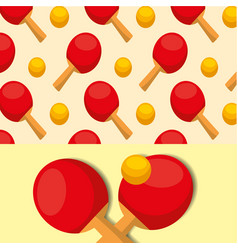 ping pong ball racket sport competition pattern vector image