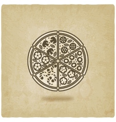 pizza old background vector image