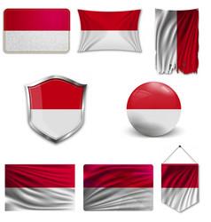 Poland flag icon isolated flag button vector