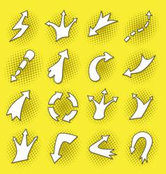 pop art arrows set vector image