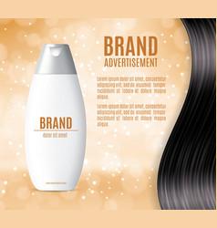 Premium shampoo ads vector