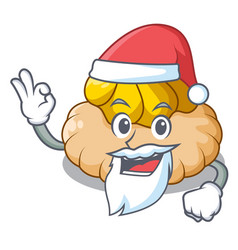 Santa ice cream biscuit on wafers cartoon vector
