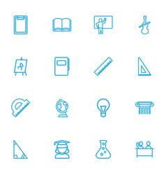 Set of 16 editable teach outline icons includes vector