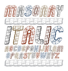 Set of cool ancient upper case english alphabet vector