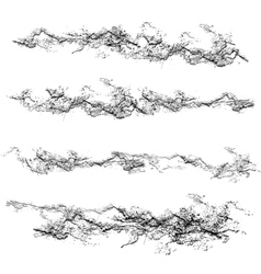 Set of grunge textures Black and white scratches vector image