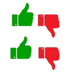 set thumb up icons vector image