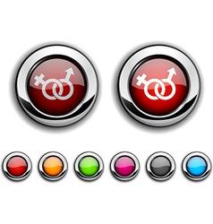 Sex button vector image