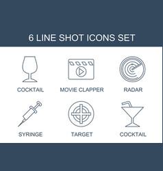 Shot icons vector
