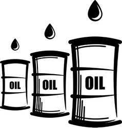 Simple with oil barrels vector