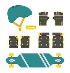 Skateboarder Protection Set vector