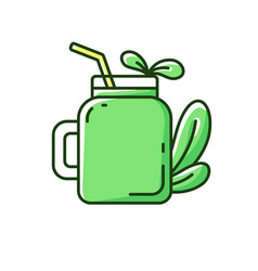 Smoothie rgb color icon vector