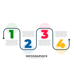 Stylish four steps modern line infographic vector