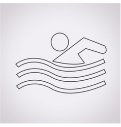 Swim icon vector