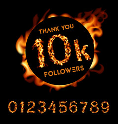 Thank you 10k followers vector