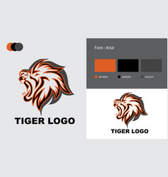 Tiger business logo template design vector
