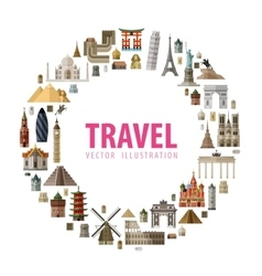 travel logo design template journey or vector image
