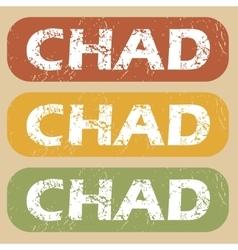 Vintage Chad stamp set vector