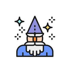 wizard magus magician thaumaturge flat color vector image