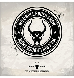 alternative bull stamp vector image vector image