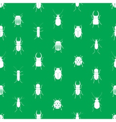 bugs and beetles simple seamless green pattern vector image vector image