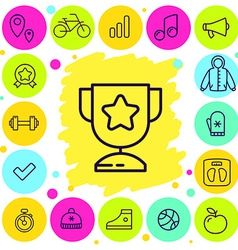 Set of sport and award icons vector