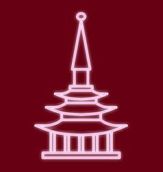 the chinese pagoda vector image