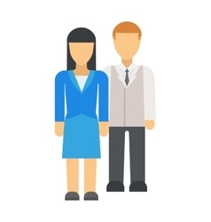 Business couple vector image