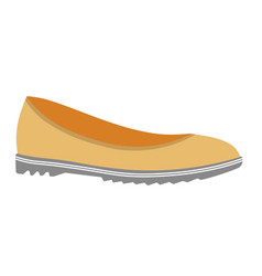 Casual loafers of soft leather on unever sole vector
