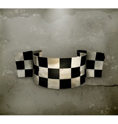 Checkered flag old style vector image vector image