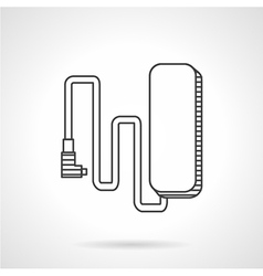 E-bike charge line icon vector image vector image