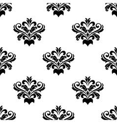 Foliate arabesque pattern for damask vector image vector image
